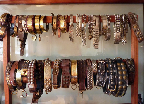 Antique dog collars at Maison Dog, London