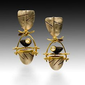 Earrings by Carolyn Morris Bach