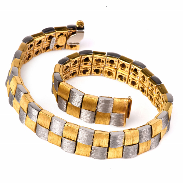 Men's platinum & gold bracelet by Henry Dunay