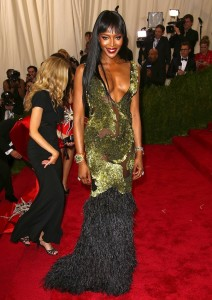 Naomi Campbell at Met Gala 2015