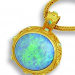 Opal pendant by Carolyn Tyler