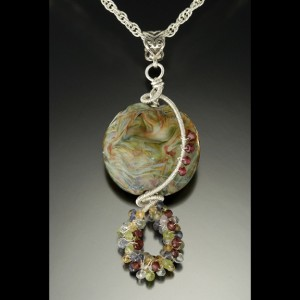 Lori Anderson's beaded pendant