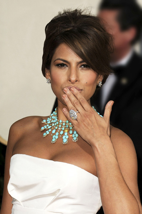 Eva Mendes at Golden Globe Awards