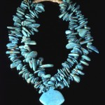 Cerrillos turquoise necklace from 1940s by Zuni jeweler Leekya Deyuse (Millicent Rogers Museum, Taos, NM)