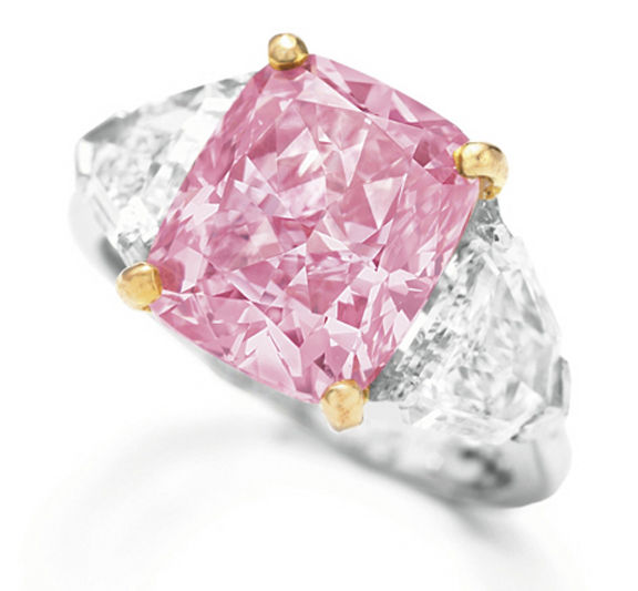Vivid Pink diamond ring (courtesy Christie's Images)