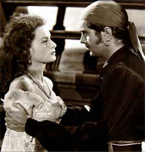 Tyrone Power beat 'em all to the punch in the 1942 swashbuckler, The Black Swan