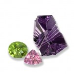 Faceted peridot, tourmaline and amethyst photographed by Lee-Carraher (courtesy Judith Whitehead)