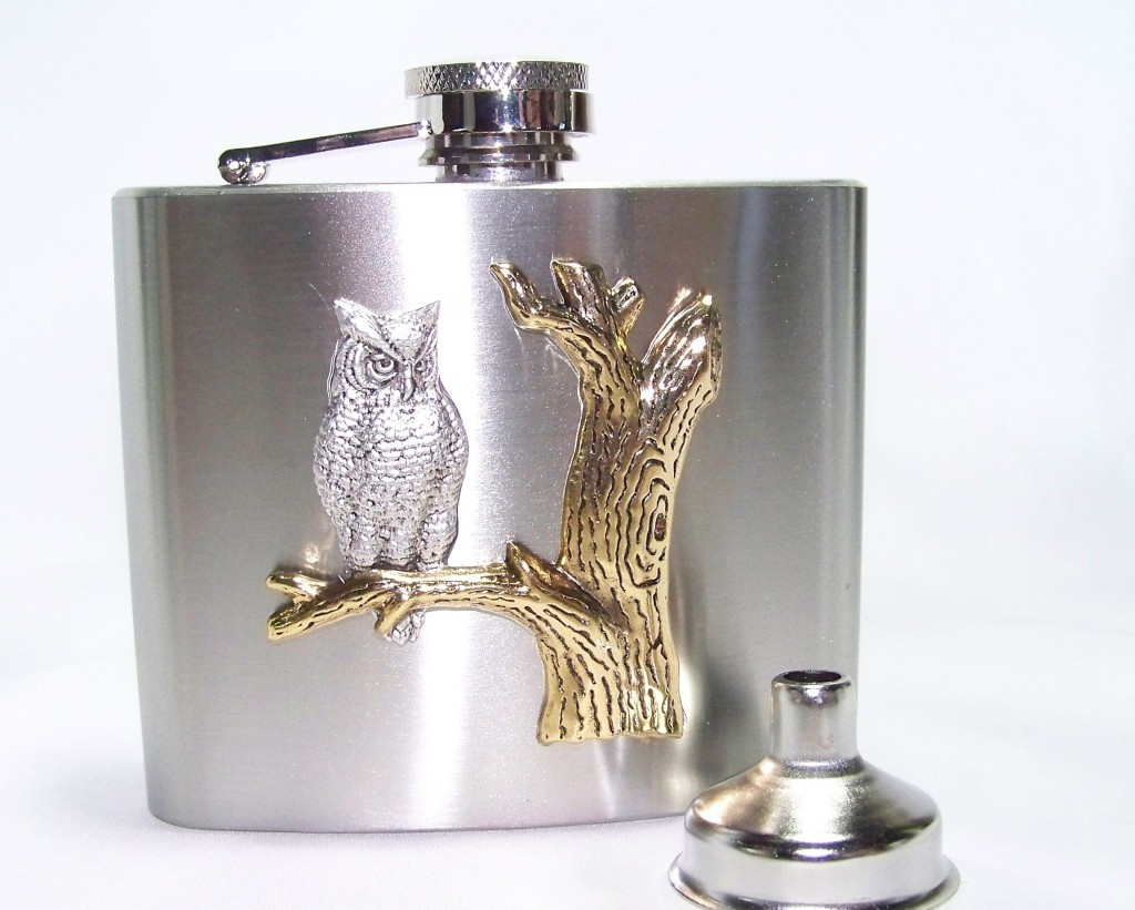 Stainless steel flask by the TheSteampunkTrunk (etsy.com)