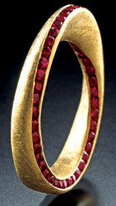 Ruby and gold ring by Klaus Spies