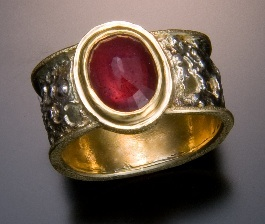 Inside Out Ring of 1.50-carat ruby set in recycled gold by Chris Nelson