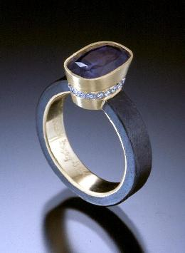 Queen Ring Of Iron Platinum 18k Gold And Purple Shire By Pat Flynn Patflynninc