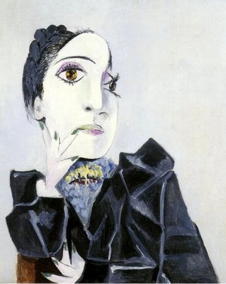 Dora Maar with Green Fingernails, oil on canvas, by Pablo Picasso, 1936
