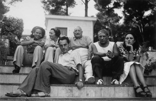 Ady, Marie Cuttoli and husband, Man Ray, Picasso and Dora Maar, photographed by Man Ray in the South of France, 1937