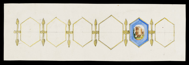 Design sketch by Charlotte Newman, 1860s, V&A Museum collection