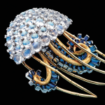 Jellyfish brooch of moonstone, sapphire and diamond by Jean Schlumber for Tiffany, 1960s