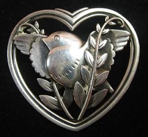 Georg Jensen bird heart