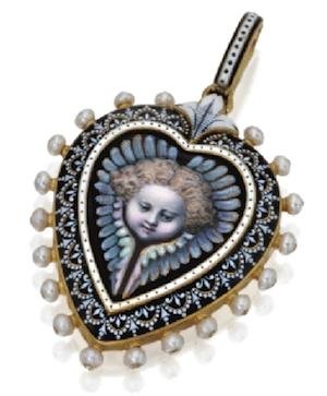 Renaissance-Revival-heart-pendant