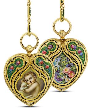 enamel pendant watch 1820