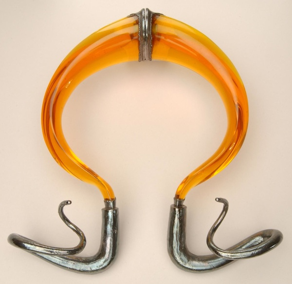 Torque necklace by Stanley Lechtzin, Helen Drutt Collection (Museum of Fine Arts, Houston)