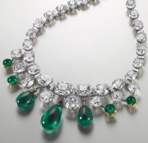 Emerald and diamond necklace by Boucheron, 1950s, at Christie's HK May 28 (Christie's Images)