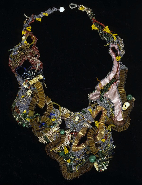 Necklace of beads, fabric, thread by Joyce Scott, 1994 (Smithsonian American Art Museum)