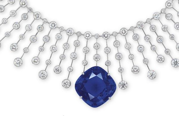 Cartier diamond & sapphire necklace