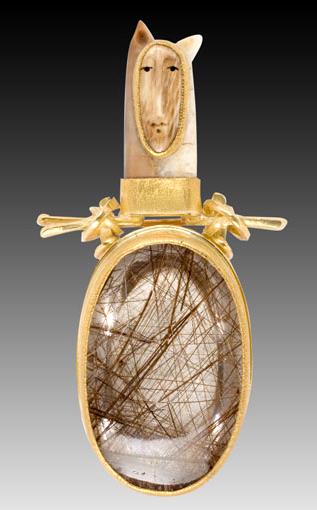 Carolyn Morris Bach fox pin