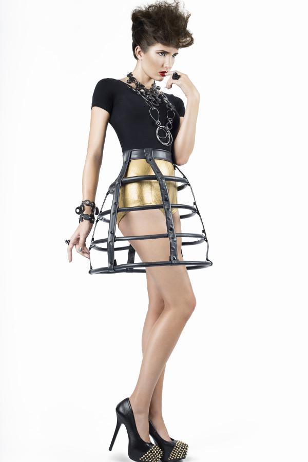 Inner tube fashion by Kathleen Nowak Tucci