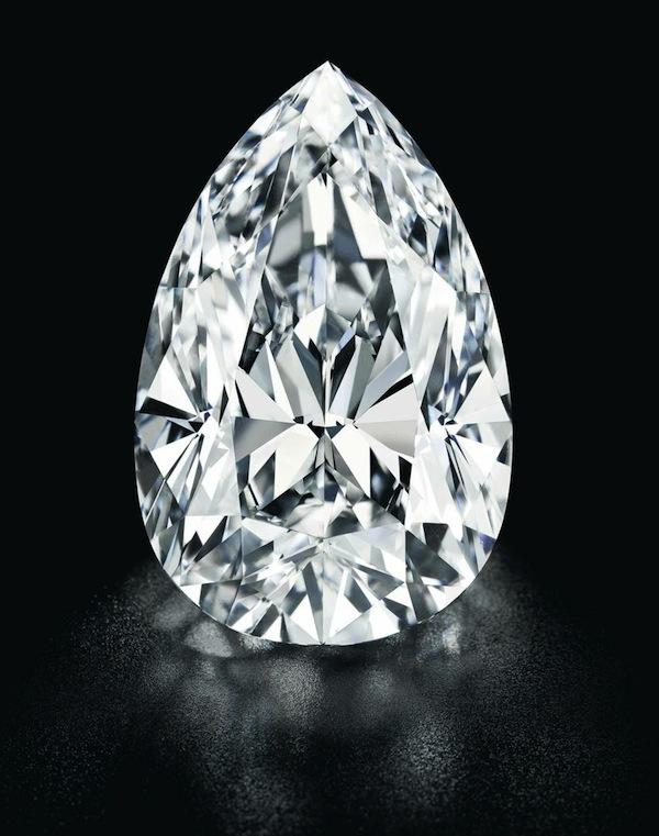 55.52ct pear-shape diamond