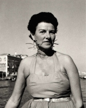 Peggy Guggenheim wearing mobile earrings by Alexander Calder (courtesy private collection)
