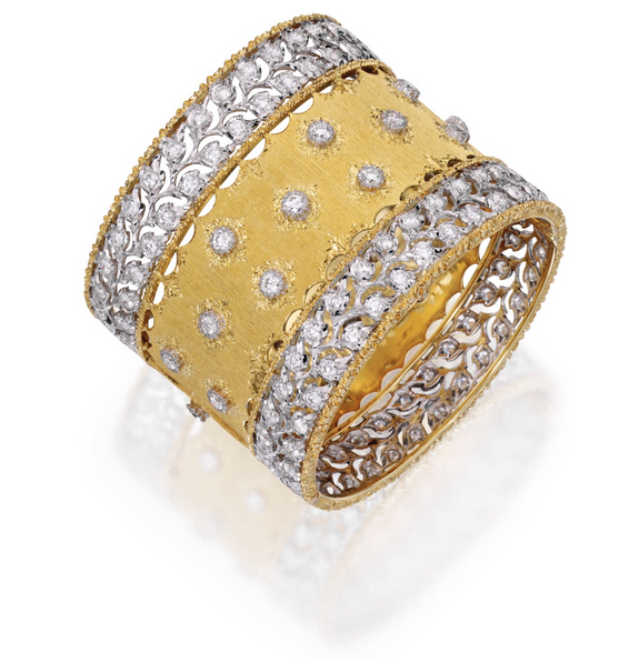 Buccellati gold & diamond cuff