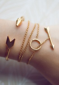 Bracelets of gold-plated bronze by Tiklari from Oh Mai Darling blog (ohmaidarling.com)