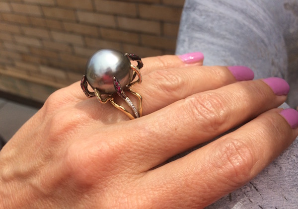 Adolfo Bofill Tahitian Pearl Ring (photo Cathleen McCarthy)
