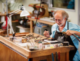 Alan Revere at his work bench