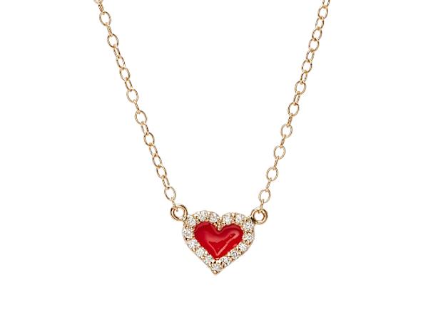 Alison Lou heart-shaped pendant