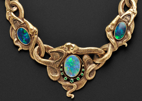 Art Nouveau necklace, Skinner