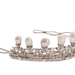 Baroque pearl and diamond tiara
