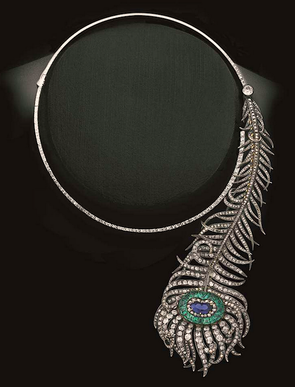 Boucheron peacock feather necklace, 1883