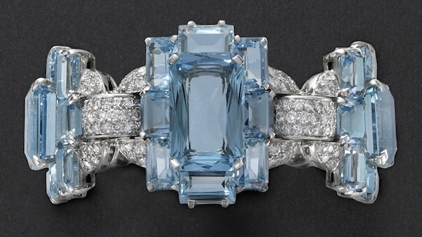 Aquamarine bracelet, Cartier New York, 1937