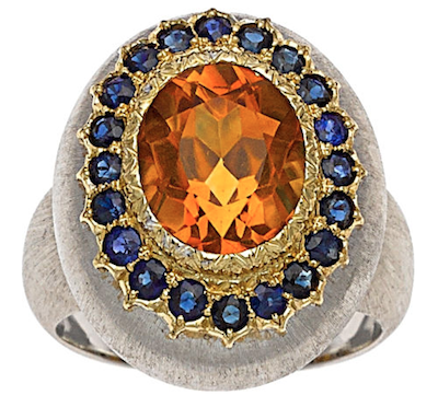 Buccellati citrine ring