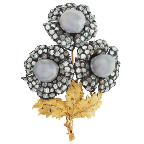 Buccellati floral brooch