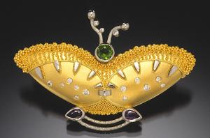Butterfly brooch:pendant by Cornelia Goldsmith