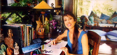 Carolyn Tyler in her Bali studio