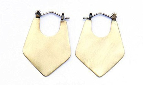 Cindy Liebel brass hoops