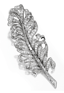 Diamond feather brooch by Paul Flato