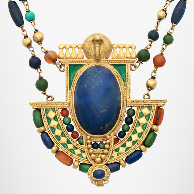 Egyptian Revival necklace by Louis Comfort Tiffany