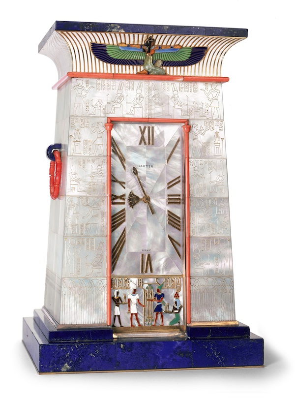 Egyptian striking clock owned by Mrs. George Blumenthal (c) Cartier