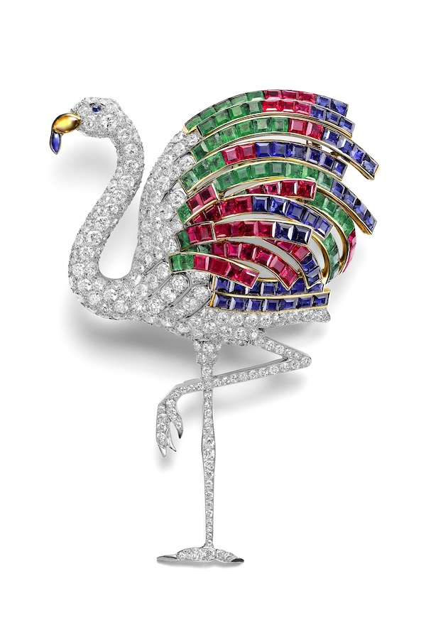 Flamingo brooch worn by Duchess of Windsor (c) Cartier