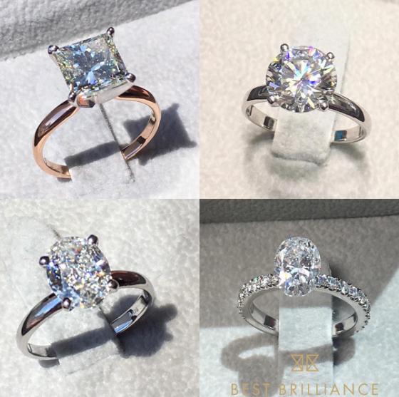 Four diamond rings