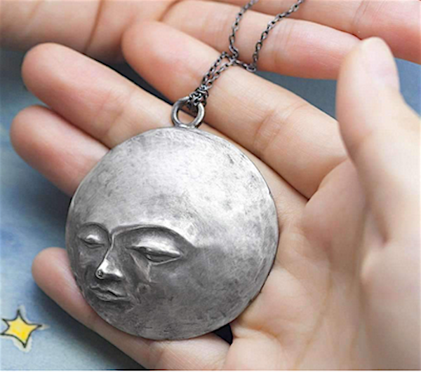 """Full Moon on a Starry Night"" necklace by Ileave"